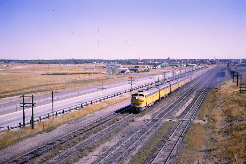 UPRR 342 - Sep 13 1964 - Passenger Train near Cheyenne WY