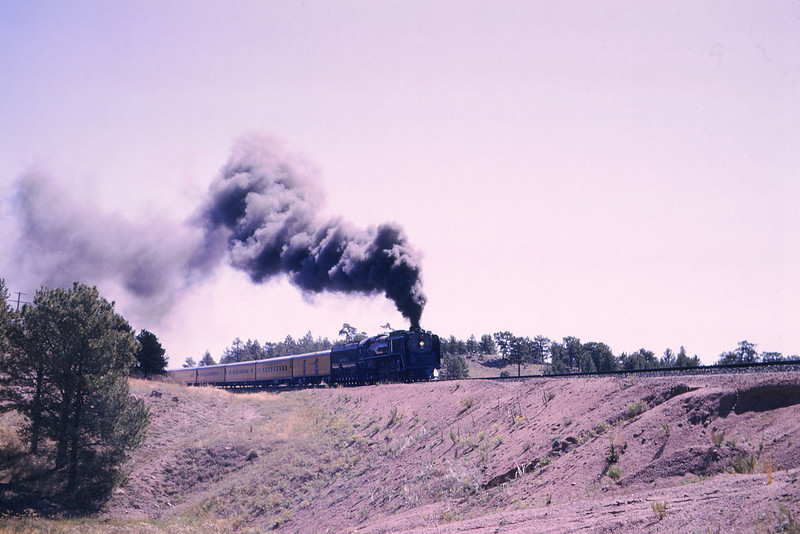 UPRR 349 - Sep 13 1964 - 4 8 4 no 8444 westbound Harriman WY