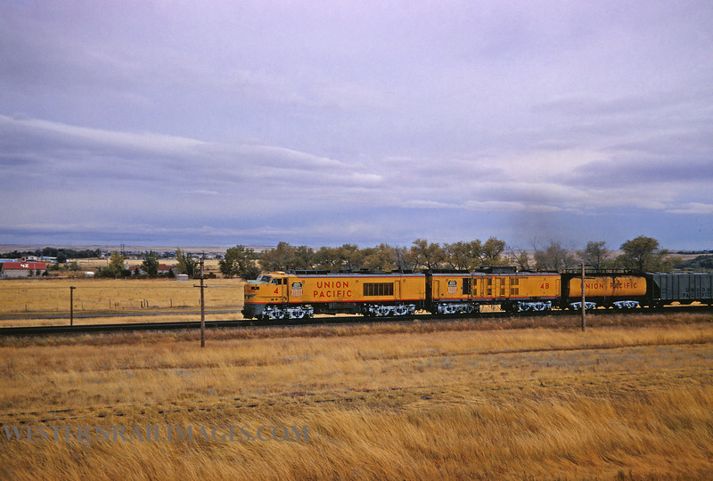 UP 416 - OCt 14 1967 - Turbine 4 and train action east of Cheyenne WY - by Jim Ozment