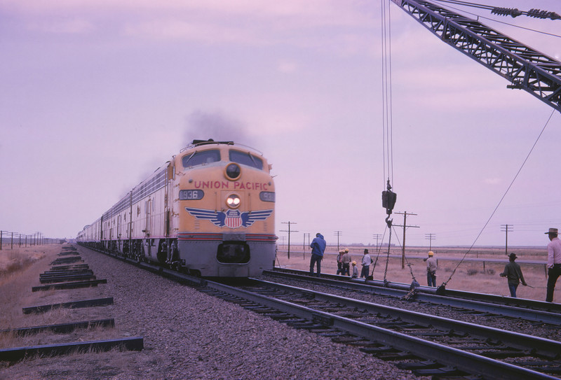 UPRR 366 - May 11 1966 - Eastbound passenger train west of Laramie WYO