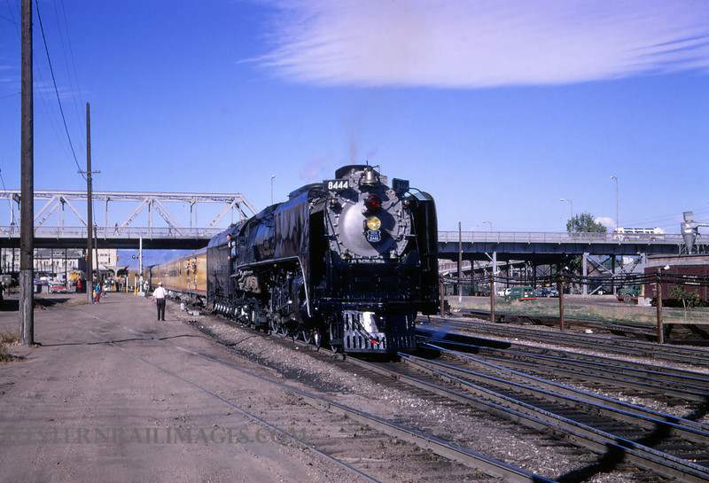 UP 409 - June 3 1967 - loco 8444 on RMRRC trip @ Denver Co - by Jim Ozment