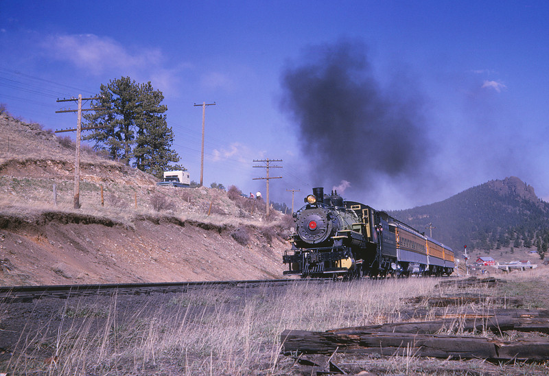 D&RG 1511 - May 2 1965 - ex GW 51 on RMRRC trip westbound leaving Rollinsville COLO