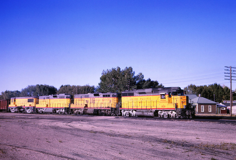 UPRR 352 - Sep 13 1964 - EO freight leaving Laramie WYO