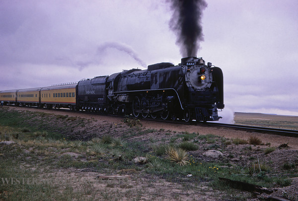 UP 368 - Sep 25 1966 - loco 8444 4-8-4 steam near LaSalle Colo by Jim Ozment