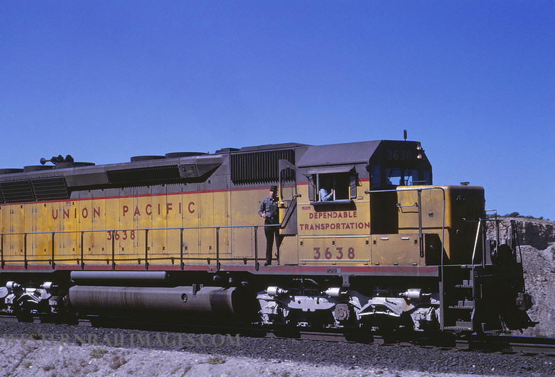 UP 425 - April 29 1969 - loco 3638 on Kaiser Unit Train with Bob Buffalow Helper UT by Jim Ozment