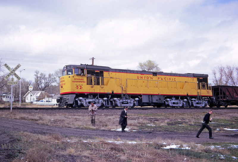 UP 402 - April 23 1967 - loco 52 @ Julesburg CO - by Jim Ozment
