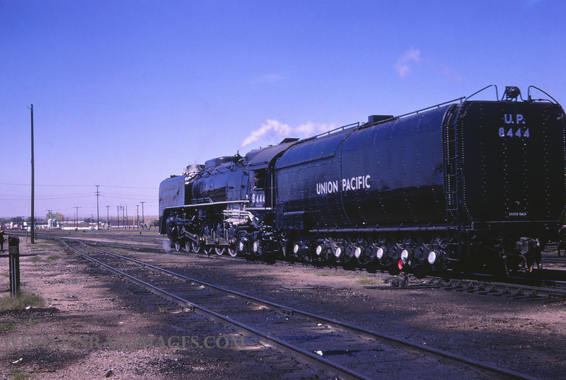 UP 371 - Sep 25 1966 - no 8444 4-8-4 @ Cheyenne WY -by Jim Ozment