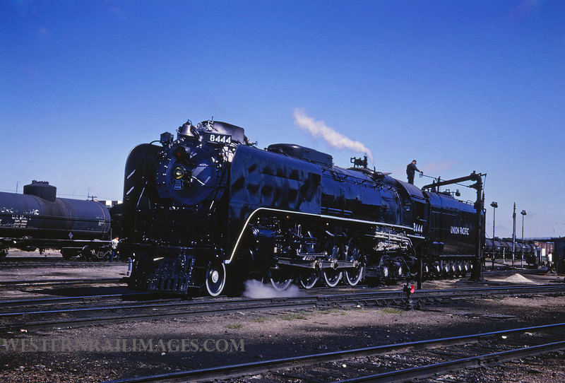 UP 373 - Sep 25 1966 - no 8444 4-8-4 @ Cheyenne WY - by Jim Ozment