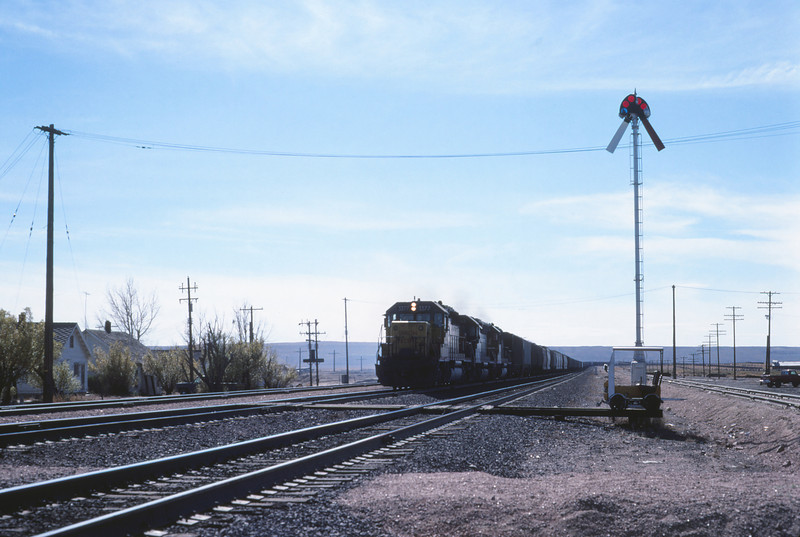 UPRR 629 - Oct 11 1979 - eastbound train at Tipton WYO