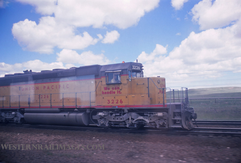 UP 603 - June 8 1975 - no 3226 @ Sherman Hill WY - by Jim Ozment