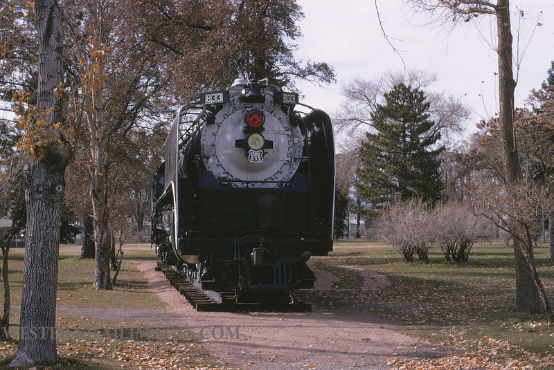 UP 575 - Nov 17 1972 - no 833 in park @ Salt Lake City UT - by Jim Ozment