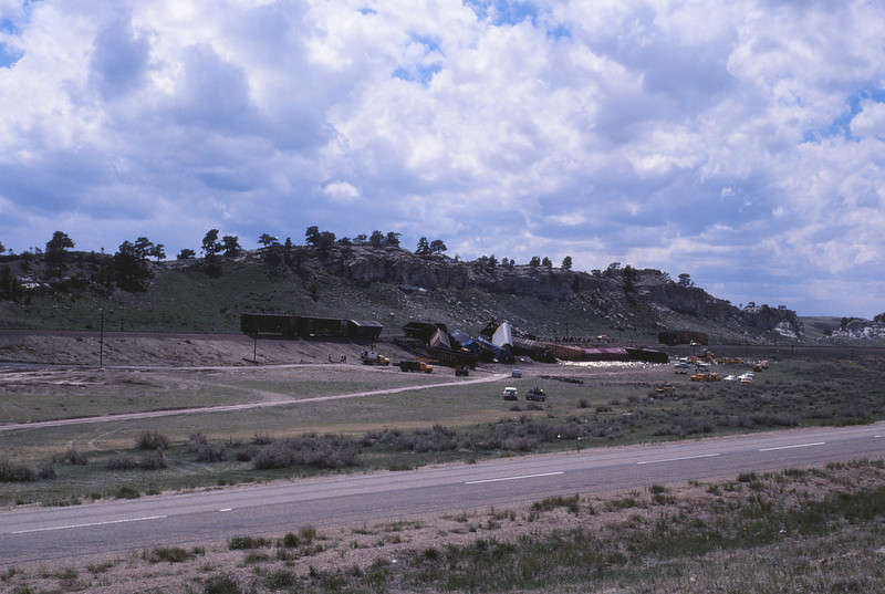 UPRR 619 - May 22 1979 - wreck east of Rock River WYO