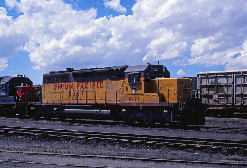 UP 620 - May 22 1979 - no 8027 @ Medicine Bow WY - by J Ozment