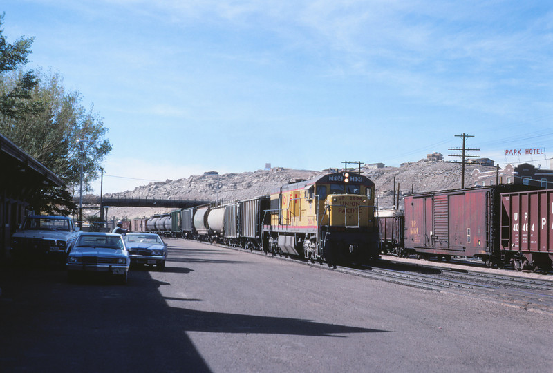 UPRR 628 - Oct 11 1979 - eastbound at Rock Springs WYO