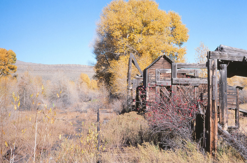 UPRR 631 - Oct 11 1979 - old tie loading facility @ Ft Fred Steele WYO