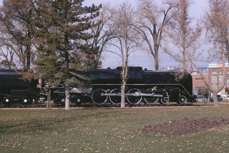 UP 574 - Nov 17 1972 - no 833 in park @ Salt Lake City - by Jim Ozment