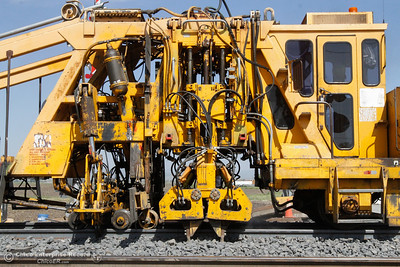 Union Pacific employees work on railroad maintenance and upkeep April 18, 2016 along the Midway at Fruitvale in Richvale, Calif. (Emily Bertolino -- Enterprise-Record)