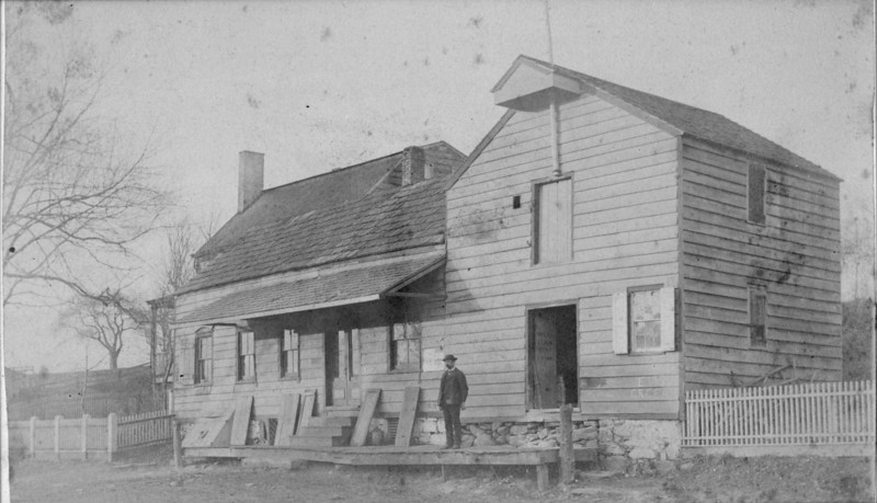 Westlake's General Store on what is now West Chestnut St. taken down in the 1890's. We assume that that is the proprietor Mr. Frank Westlake himself standing out in front. The house next to /behind still stands at 875 West Chestnut St. and can be seen in a subsequent photo.