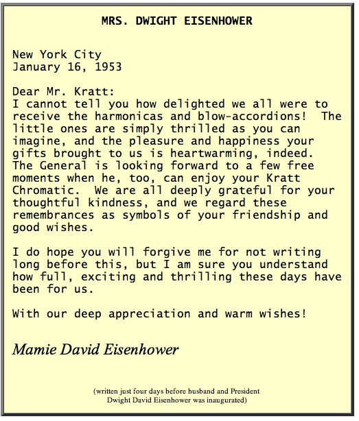 Kratt Eisenhower letter