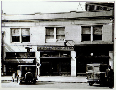 The original Union Center National Bank around 1923.