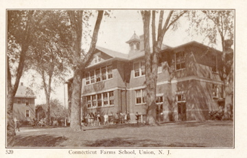 Located on Stuyvesant Ave next to present day Connecticut Farms School this building was built about 1906 and was the Connecticut Farms School until about 1938. The building was used as a recreation center after that and then torn down to build condos in the 1980's.