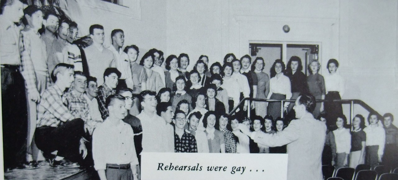 The UHS Class of 1956 Glee Club taken from the  yearbook.