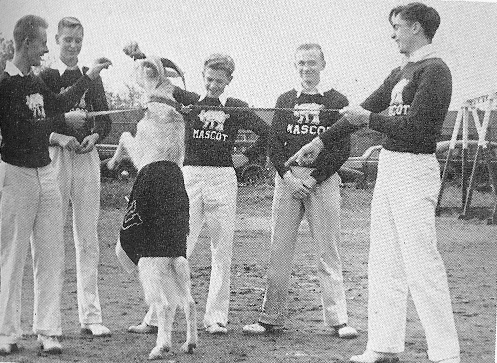 "1942 UHS mascot named ""Willie Butts""."