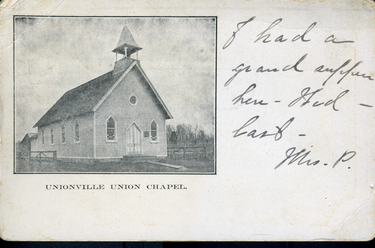 Union First congregational Church post card