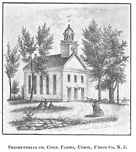 Connecticut farms church drawing headley