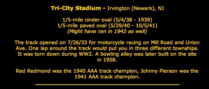 From racing history website: http://www.njrn.com/njhistory.html
