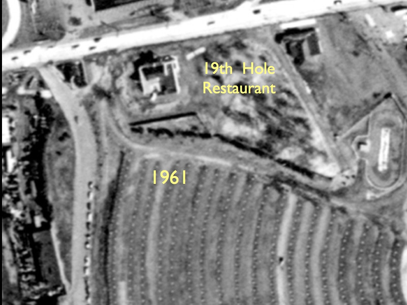 Aerial photo of The 19th Hole Restaurant which was on Route 22 east in front of the Union Drive in. Burger King currently resides on the property.