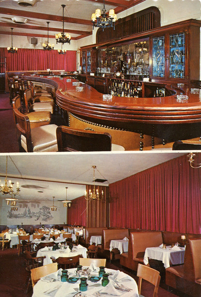 The Tally Ho is currently The Garden Restaurant on Magie Ave. The curved bar is still in use.