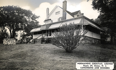 """The Normandie Cocktail Lounge was located on Route 29 (now Route 22 west bound) at Fairway Drive N. with it's back on West Chestnut st. The building was torn down to make way for the Mini U storage facility. Click """"Map This"""" to map the location."""