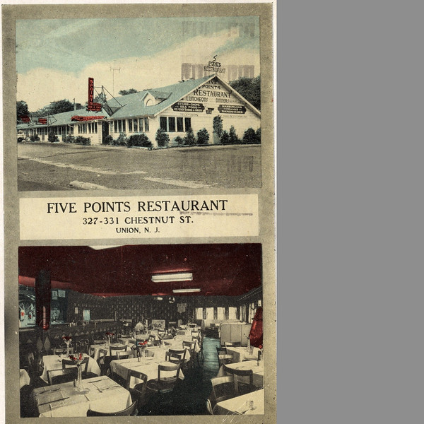 A 1951 post card for Five Points Restaurant which was located on Chestnut St. at Five Points where Rite Aid is currently located.