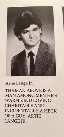 Artie Lange Jr. photo from the 1985 UHS yearbook.