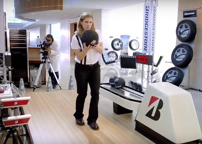 Pro Bowler Kelly Kulick knocks down 30 pins in one shot with the special Bridgestone bowling ball.   https://www.youtube.com/watch?v=TAgTSRsD0jc