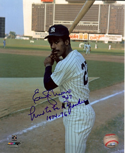 Elliott Maddox- born December 21, 1948, in East Orange, New Jersey, and grew up in Union. At age nine, he his older brother, Willie, into Union Little League. While at Union High school he played  short stop and third. He batted cleanup and powered the school team to the state championship in 1966. Scholarship offers arrived from over a hundred universities, including Columbia and Brown. He chose Michigan due to its combined strength in academics and athletics, and proximity to relatives in Detroit. In 1968, as a college sophomore, the first year students were eligible to play varsity, Maddox won the NCAA Big Ten batting title with an astonishing .467 average. That same year, he was the number one, second round draft pick for the Detroit Tigers. He was headed for medical school at the time, but switched his major to history, as it was impossible to complete the pre-med curriculum and play baseball at the same time. 	Detroit Tigers (1970) 	Washington Senators (1971) 	Texas Rangers (1972–1973) 	New York Yankees (1974–1976) 	Baltimore Orioles (1977) 	New York Mets (1978–1980) Wikipedia entry  http://en.wikipedia.org/wiki/Elliott_Maddox