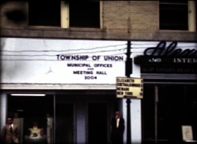 Before the Union Municipal Building had been built the Offices and Meeting Hall were located at 2004 Morris Ave. at the corner of Stuyvesant Ave. This image was taken from a film shot in 1948.
