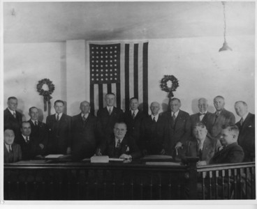 1939 Township Committee with other town dignitaries.
