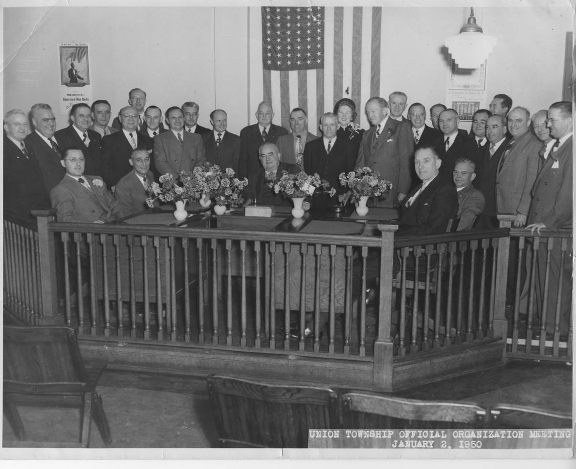 1950 Township Official Organization Meeting at Municipal Headquarters at 2004 Morris Ave.