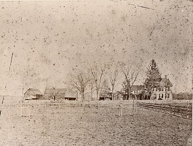 Halstead House and farm on Elmwood Ave. taken from across the street about the late 1800's.