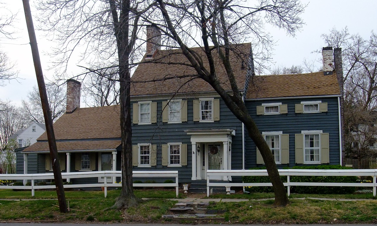 This house located at 1835 Vauxhall Road is referred to as the Brandt -Headley Farm House in a 1938 study done by the Work Projects Administration (WPA) in order to document historic structures in the area. The house was built about 1780. Subsequent images are of the house in 1938 and architectural plans of the first floor.