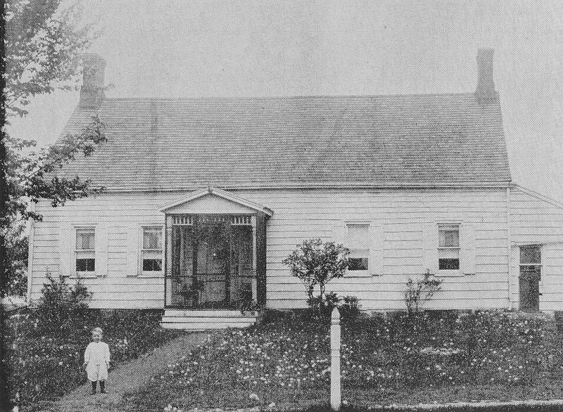 The Mulford Family Home on Stuyvesant Ave. opposite the end of Rosemont Ave. We make the assumption that the tyke in the foreground is one of the little Mulfords.