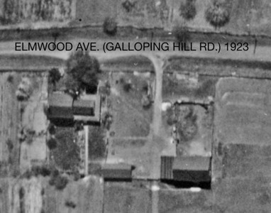 Halstead House and farm captured in a very rare 1923 aerial photo. This could be close to what the property looked like back in the late 1700's. Elmwood Ave. was a part of the Galloping Hill Rd. referred to in the history of the local Revolutionary War battles fought here.