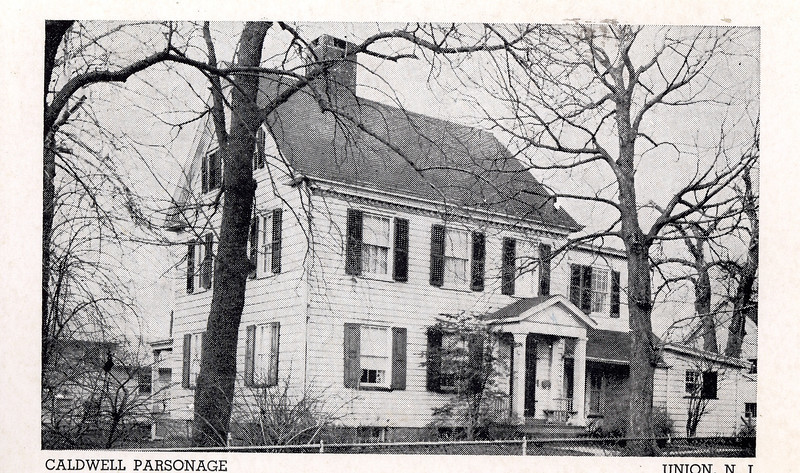 The Caldwell Parsonage, the site where the Wife of Reverend James Caldwell was shot by a British Soldier in 1780 and home to the Union Township Historic Society. The house is currently a museum open to visitors.