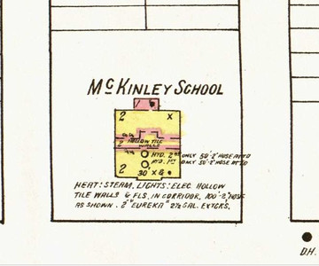 Sanborn Map image of the McKinley School from 1923.
