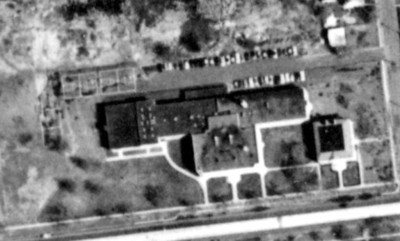 1961 Aerial of the Harding School and the McKinley school on the right.