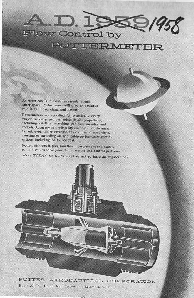Pottermeter ad 1958 book