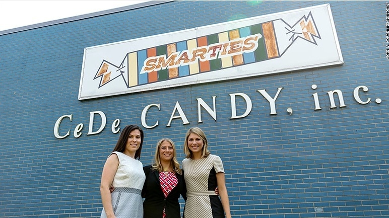 The grandaughters of the founder Ed Dee currently help run the company and stand proudly in front of the building on Lousons Rd. Reprinted with permission from Smarties Candy Company. Smarties(r) is a registered trademark of Smarties Candy Company located in Union, New Jersey. Reprinted with permission from Smarties Candy Company. Smarties(r) is a registered trademark of Smarties Candy Company located in Union, New Jersey