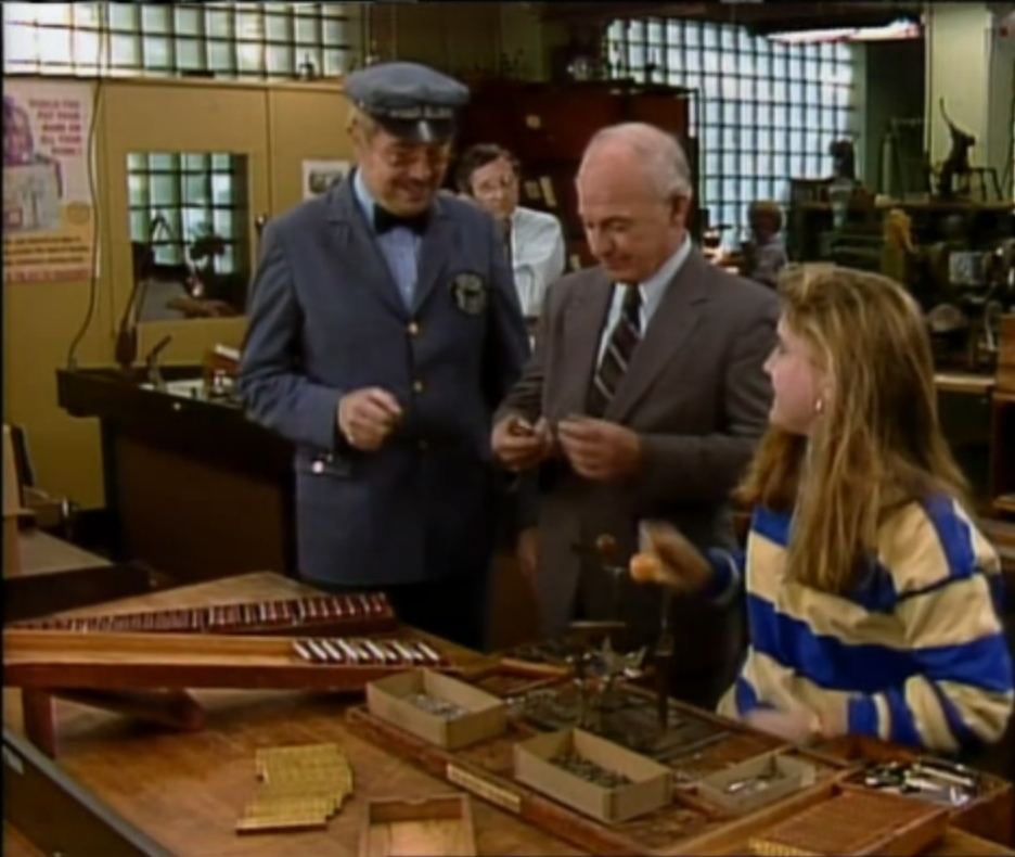 "Video capture from an unearthed video clip featuring Mr. McFeely from Mr. Rogers Neighborhood at the WM Kratt Factory. This is an early version of ""How it's Made"" and demonstrates how they made harmonicas on Johnson Place. Click this link to see the clip: http://www.youtube.com/watch?v=2Wmrz8BM-4M&feature=share"